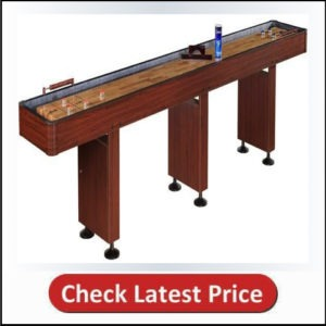 Family Pool Shuffle Board Table in Dark Cherry