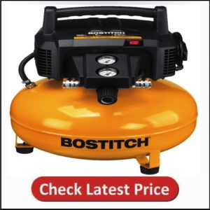 BOSTITCH Pancake Air Compressor, Oil-Free, 6 Gallon, 150 PSI