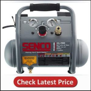 Senco PC1010N 1/2 Hp Finish & Trim Portable Hot Dog Compressor, Grey