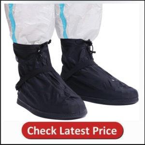 Life-C Black Waterproof Snow Rain Shoes Covers