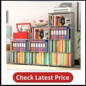 BinXin Bookshelf 4 Tier Shelf 9-Cube Cabinet Bookcase