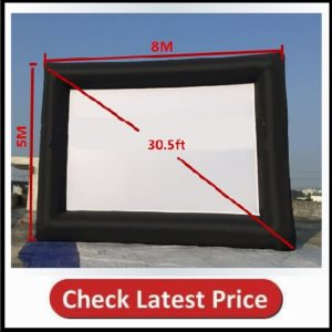KUNHEWUHUA 30.5' Inflatable Movie Screen