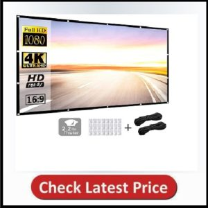 Projector Screen 120 inch 169 HD Foldable
