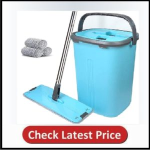 Flat Floor Mop and Bucket Set - Home Floor Cleaning