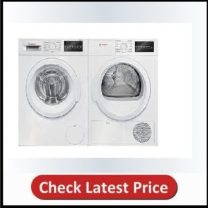 White Front Load Laundry Pair with WAT28400UC 24 Washer