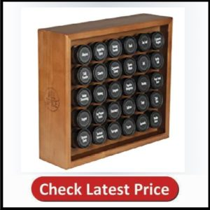 Allspice Wood Spice Rack