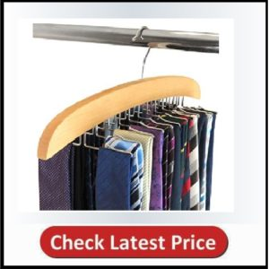 HANGERWORLD Natural Wooden Tie Hanger