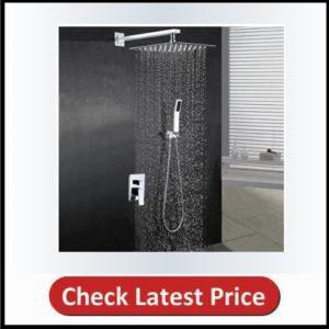 BOHARES Bathroom 10-inch Rainfall Shower Head with Handheld