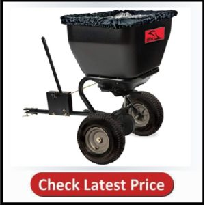 Brinly BS36BH 175 lb Black Tow-Behind Broadcast Spreader