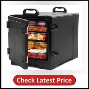 COSTWAY End-Loading Insulated Food Pan Carrier