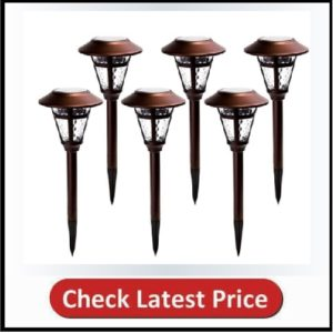 GIGALUMI 6 Pack Solar Garden Lights