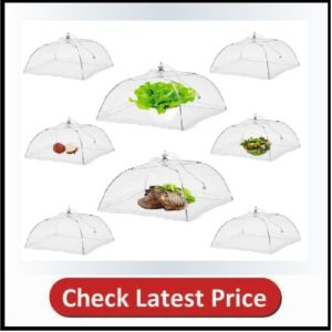 NEPAK 8 Pack 17 inches Large Pop-Up Mesh Food Cover Tent
