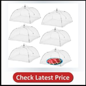 Simply Genius (6 pack) Large and Tall 17x17 Pop-Up Mesh Food Covers