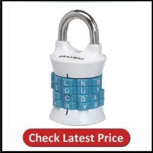 Master Lock 1535DWD Locker Lock Set Your Own Word Combination Padlock