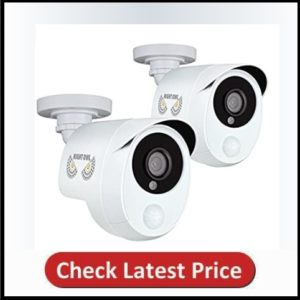 Night Owl 1080p Wired 2 Pack Add–On Security Cameras with Heat Based Motion Detection