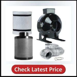 TopoLite 4″ Inline Fan Ducting Combo Air Carbon Filter